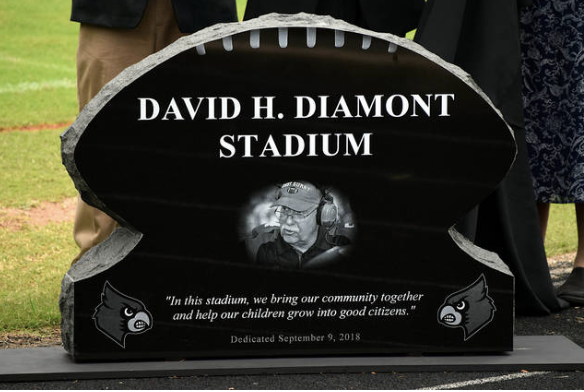 Coach David H. Diamont Honored with Stadium Naming Ceremony