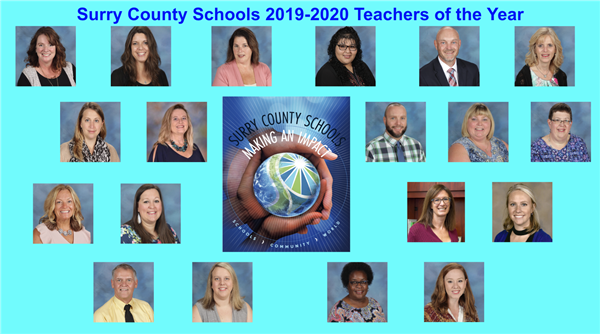 Surry County Schools Announces Teachers of the Year