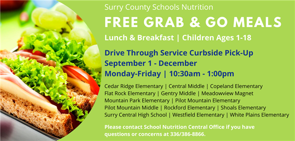 Surry County School Nutrition Will Continue to Offer Free Meals