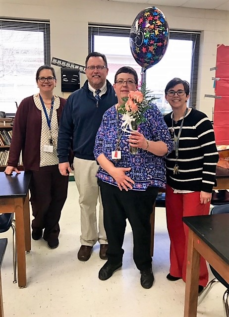 Mrs. Billings is the NSHS Teacher of the Year
