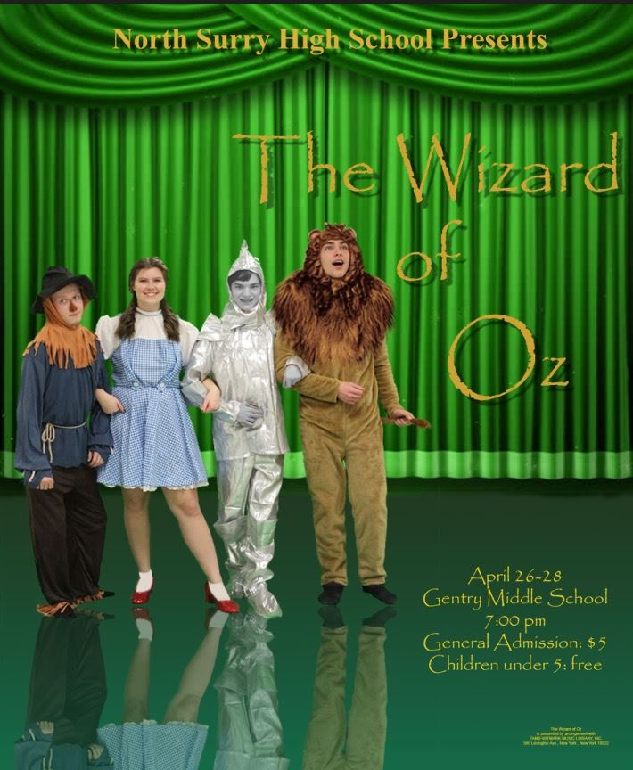North Surry to Perform The Wizard of Oz