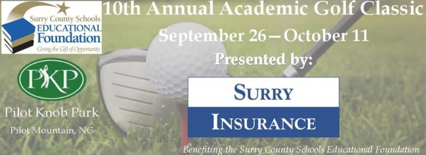The dates for the tournament, sponsored by Surry Insurance, are September 26 – October 11