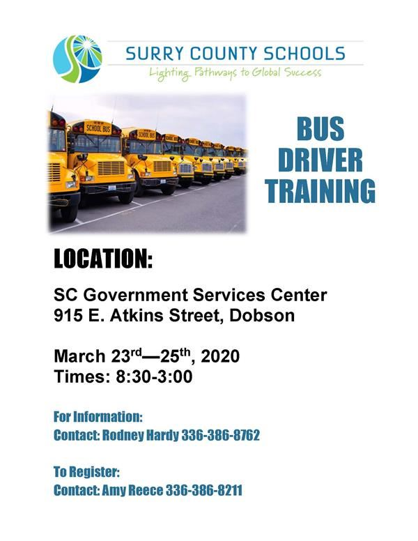 CANCELLED Bus Driver Training