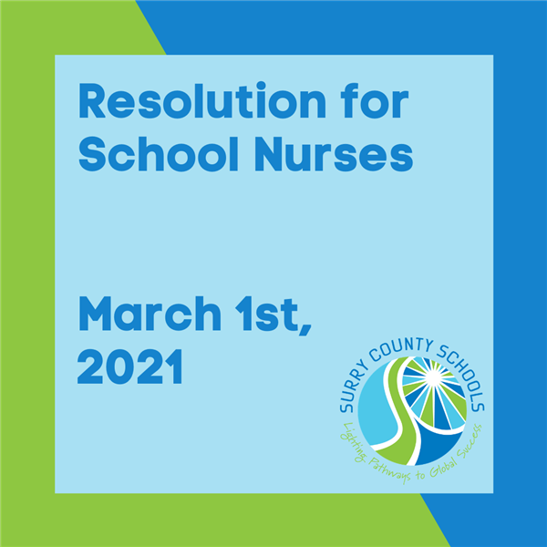 Resolution for School Nurses March 1st, 2021