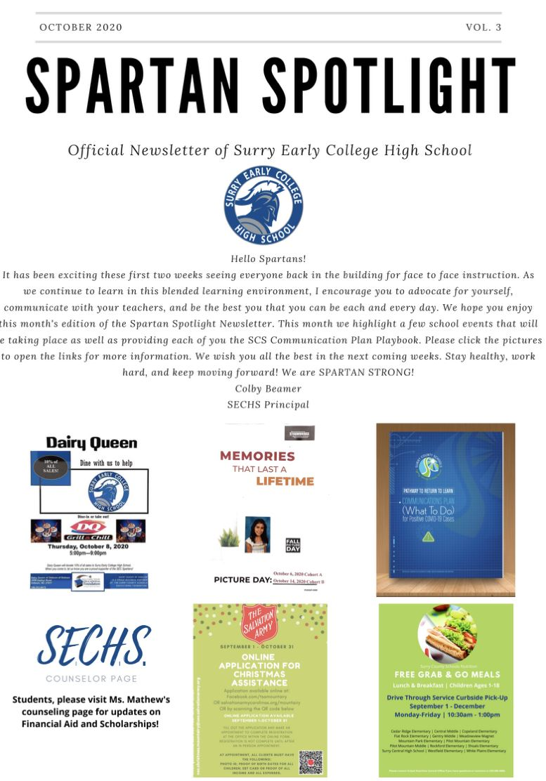 Surry Early College High School October Newsletter